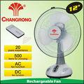 """12"""" พัดลมdcพลังงานแสงอาทิตย์ฉุกเฉินที่มีการควบคุมระยะไกลและระบบไฟ"""