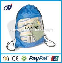 High Quality cheap nylon drawstring bag with CMYK printing nylon mesh drawstring bags cloth shopping bags