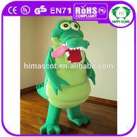 HI crocodile mascot costume/fur mascot animal advertising costume