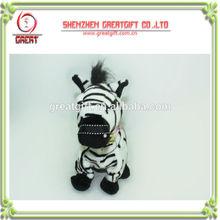 Stuffed DJ Zebra with recording and walking function/plush stuffed animal lovely zebra