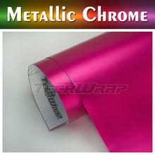 Teckwrap Car Vinyl Wrap 1.52*20m 8 color, pink matte metallic chrome vinyl