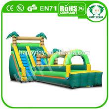 HI CE hot commercial custom funny large inflatable slip and slide for sale