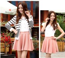 Wholesale New Fashion Women Woolen Short Pleated Skirt 8 color 15411