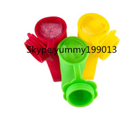 Novelty Silicone 100% Food Grade BPA Free Silicone Ice Pop Lolly Popsicle Mould with Connected Cap