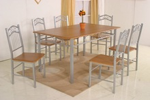 2015 graceful hot sale dining table 6 chairs set