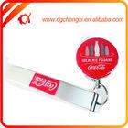 retractable badge reel clip epoxy logo aluminum bottle opener