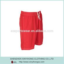 Hot Red Dir Fit Elastic Man's Sports Shorts Wholesales