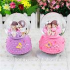 Resin ornaments music box/ wedding snow globe/ human snow globe