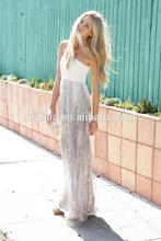 2014 fashion tube dress summer maxi dress women chiffon dress