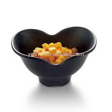 Melamine Factory Wholesale Black Color Heart Shaped 100% Melamine Rice Bowl