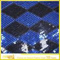 La vendita calda top 100 design 100% poliestere ornato splendida fiera paillettes tessuto trasparente tessuto peril ricamo