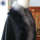 Inner Mongolia Fox Fur Cashmere Shawl Stole Wrap YRPC04