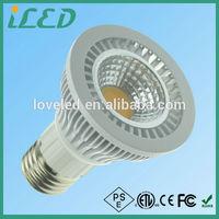 Warm/Cool white 550-600lm dimmable gu10 e27 par20 led lights for bars atmosphere lighting