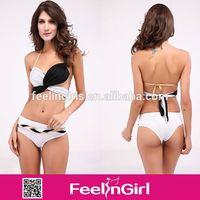Whelesale sexy cheap white and black micro bikinis transparentes no moq