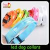 2014 hot sell pet adjustable led pet collar nylon webbing dog collars