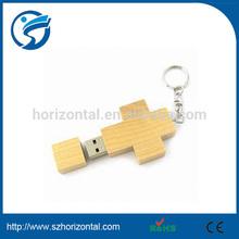 32GB 32G 32 GB USB2.0 USB 2.0 Flash Memory Drive Stick Storage Wood Cross Style
