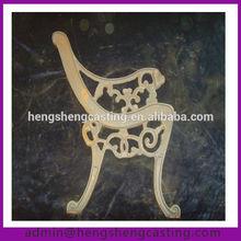 antique cast iron park bench legs