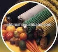 fruit machine sweeper cleaning brush roll /food mechanical drive brush/Fruit waxing machine cleaning brush