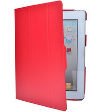 thinner lighter stand leather cover for IPAD 2/3/4 tablet flip case high quality wholesale for IPAD covers factory price