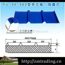 Transparente ondulée toiture feuilles métal perforé feuilles