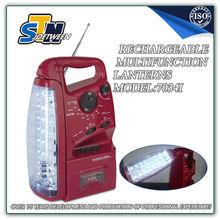 Hurricane lamp home led lighting 28+6 LED with cassette player