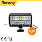 NEW arrival 108W motorcycle car LED work lights lamp bar
