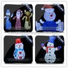 Handmade inflatable christmas snowman family