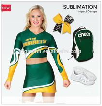 Sublimación de encargo de la muchacha de teamwear de uniformes de porristas