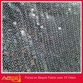 A venda quente superior 100 design 100% poliéster popular luxo glamourosa tradicional tecido de lantejoulas tecido tecido devore