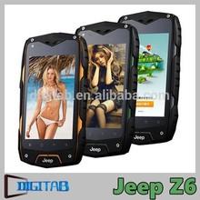 4.0 inch MK6572 dual core cheap waterproof IP68 smartphone Jeep Z6