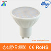 glass cover ceramic lamp body 4.5W ra>80 led spot lamp use triac dimmable led driver