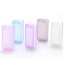 Clean transparent soft tpu flip cover case for iphone 5
