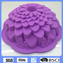 China Factory Wholesale food grade flower silicone pop pans