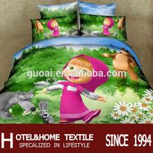 100% reactive polyester fabric 3d Cartoon Bedding