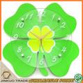 cartoon crianças relógio de parede do quarto dos miúdos decoração personalizada em forma de trevo de relógio grossista cc023