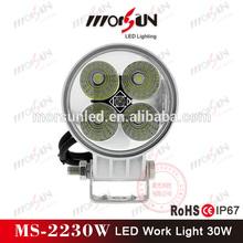Morsun led worklight, 30w flood led work light, moto light 12v led off road light