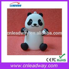 2014 newest PVC panda shaped portable charger power bank