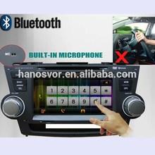 HANOSVOR 2010 Toyota highlander car dvd radio with gps navigation system and bluetooth ipod