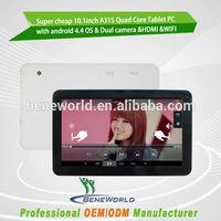 Novel design wonderful appearance 1024*600 2 camera best 10 inch cheap tablet pc for enjoying working fast professor