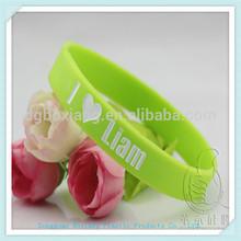 alibaba.com france heart logo rubber bracelet, soft pvc wristband, silicone wristband