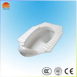 Ceramic modern squat toilet pan wc ,floor connects squatting pan, bathroom squatting toilet