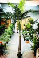 Artificial mini plastic palm trees F00300007-01 7ft tall single trunk 12 pcs of leaves areca nuttree of Este
