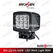 Led head lamp type 90w led work light, truck led work lamp 12V 24V