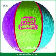 Rubber basketball colorful no logo basketball,standard size brand shiny basketball
