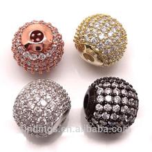 BJ4710 Whoelsale China loose micro pave diamonds,brass beads jewelry,cz pave beads
