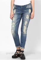 2014 alibaba new style fashion wholesale skinny ripped women jeans (#GKWJL004)