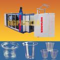 de alta calidad automático completo de termoformado recipiente de plástico que hace la máquina
