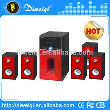 Red 5.1 subwoofer speaker