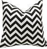 zigzag black chevron cushion cover