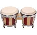 de madera bongo tambores de madera hechos a mano juguetes musicales venta al por mayor